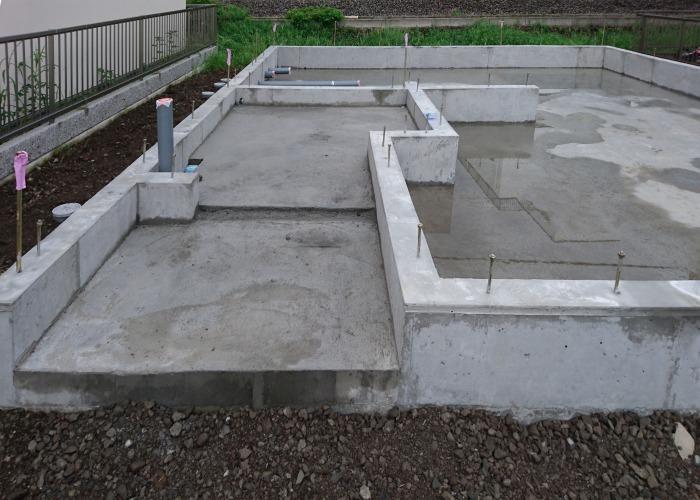 沼津市 耐震等級3の基礎 玄関増打ちコンクリート