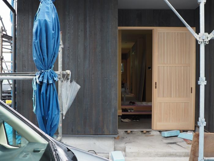 清水町 住宅新築工事 制作玄関引き戸