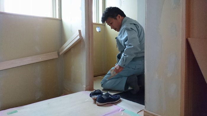 富士市 注文住宅 養生作業