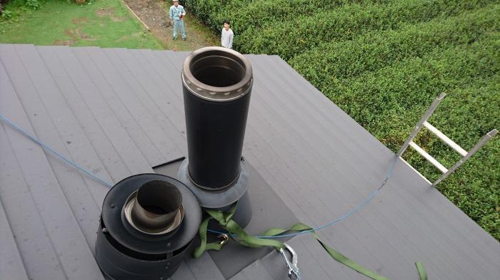 富士宮市 注文住宅の煙突掃除