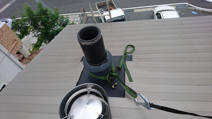 富士宮市 新築住宅 薪ストーブの煙突掃除
