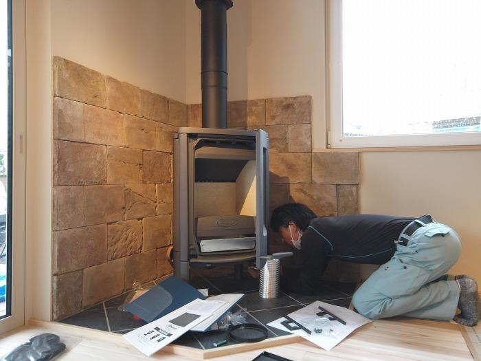 富士市 注文住宅 薪ストーブの設置