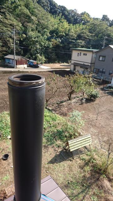 富士市 注文住宅で設置した薪ストーブの煙突掃除