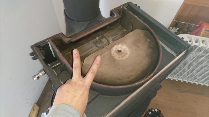 三島市 薪ストーブの煙突掃除