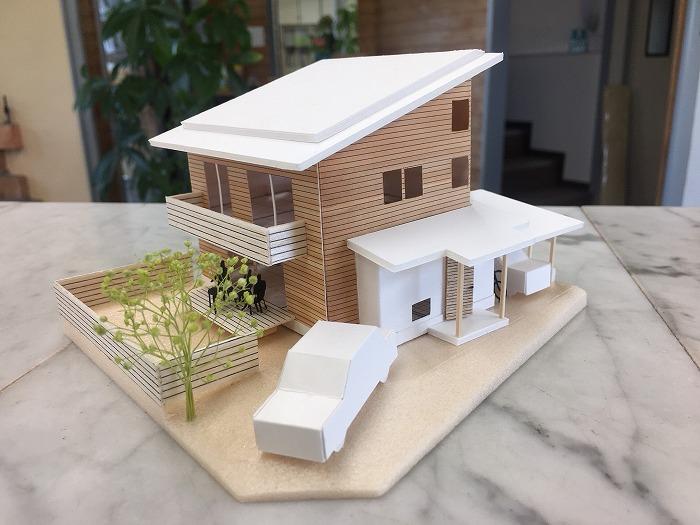 富士市の新築住宅の模型をつくる!
