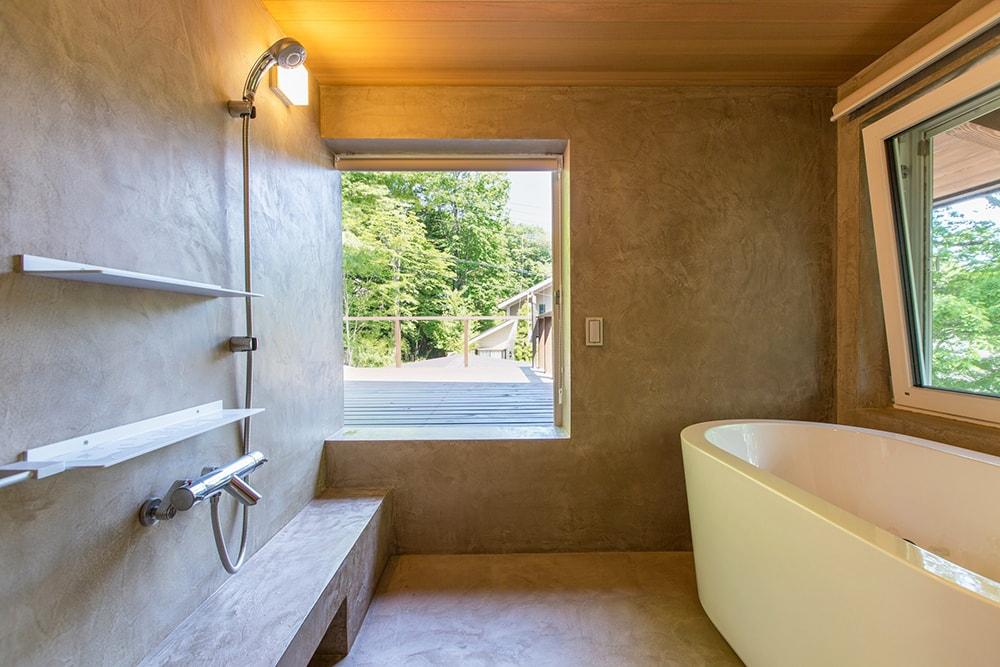 浴室も眺望優先の開放的な浴室に。毎日がリゾート気分。