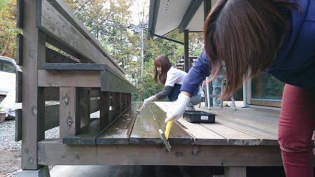 富士宮市のウッドデッキメンテナンス