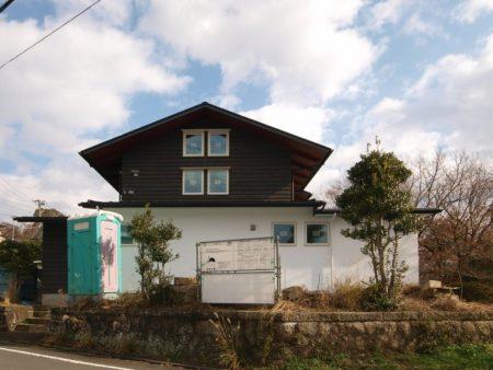 足場が取れた伊豆の国市の注文住宅