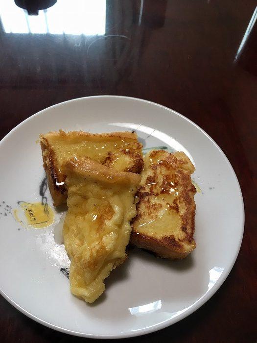 お昼ご飯にフレンチトースト♪