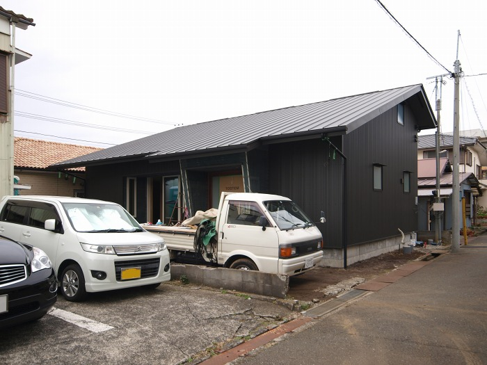 沼津市の注文住宅は足場が取れました