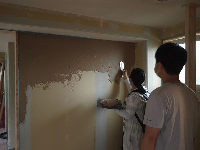 富士宮市で珪藻土DIY塗り